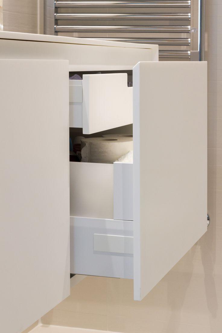 Encoba21 ba o blanco con mueble y encimera realizada en - Mueble bano blanco ...