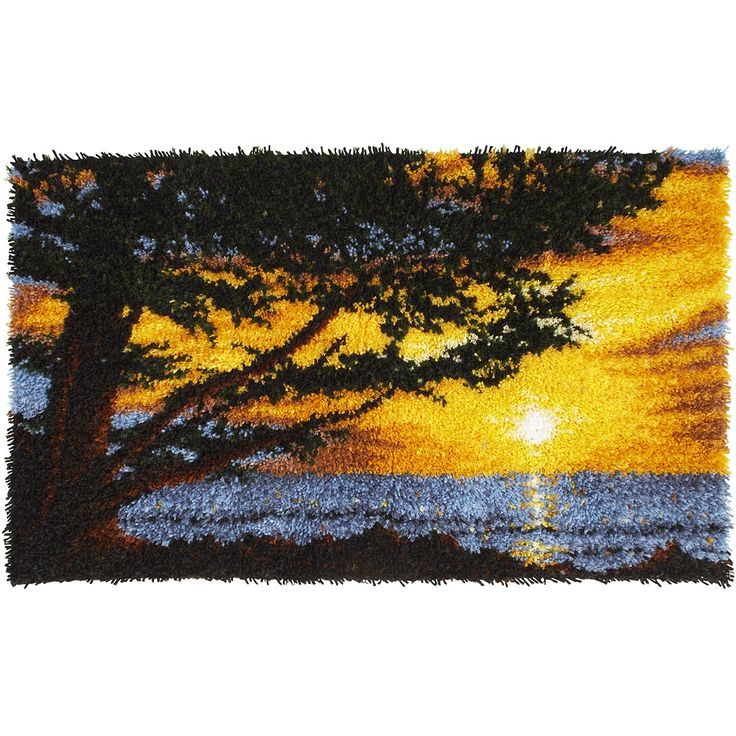 Spinrite Wonderart Latch Hook Kit 30 By Monterey Sunset Caron This Will Give You A Rug That Is Wonderfully Lush And Can