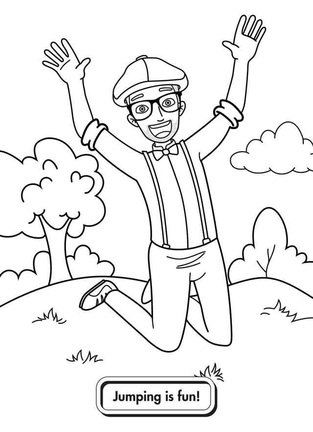 10 Best Free Printable Blippi Coloring Pages For Kids in