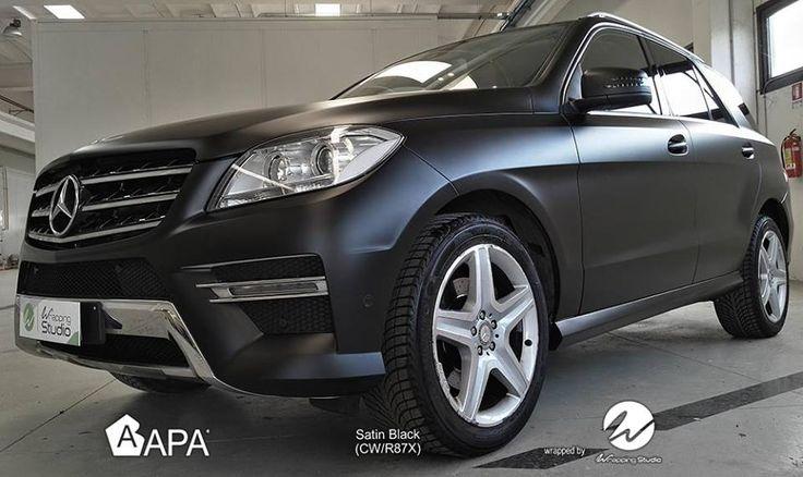 Satin Black (CW/R87X): più di un colore, un modo d'essere. Satin Black (CW/R87X): more than a color, a way of being. #selfadhesive #apastickers #apafilms #apafolie #apavinyl #satinblack #mattblack #carfoil #carwrap #carwrapping #ilw #ilovewrapping #apainside