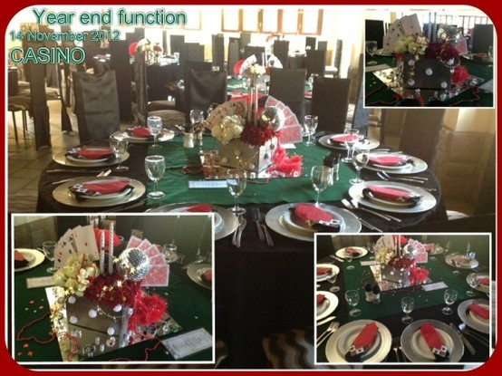 YEAR END FUNCTION 14 November Colour : red, green, silver Theme : casino
