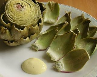 Microwave Steam an artichoke. So much easier! I am re-pinning this again because I have tried it now and can't believe I ever used a steamer basket. This really works! Takes 10 minutes!