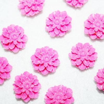 Flores de resina.
