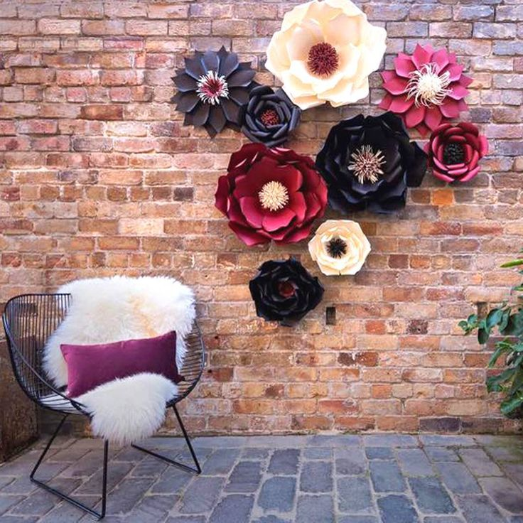 Our Auckland, Newmarket @osborne_lane store were busy bees last week! Helping style a photo shoot with @paperscissorsbow beautiful paper flowers 🌸Perfect with our matching plum velvet cushion, Ivory sheepskin & Steel chair😊What do you think?