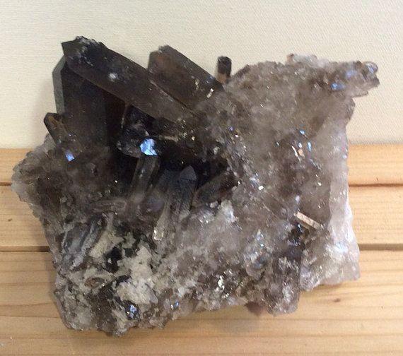 Large Smoky Quartz Crystal Cluster