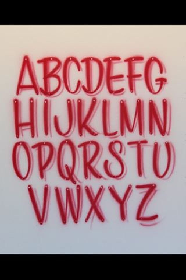 Airbrush Lettering Font - Casual Caps
