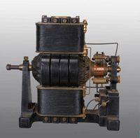 Musée Ampère Poleymieux Génératrice Siemens 1888 © société des Amis d'Ampère www.amperemusee.fr