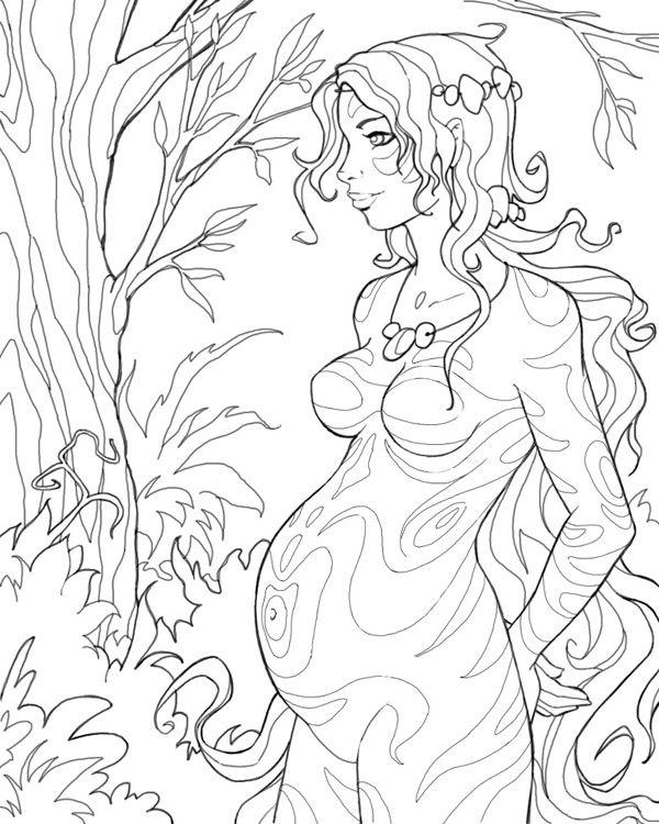 Pregnant forest girl by Cyannleola on DeviantArt