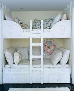 Many great ideas for how to arrange the bunk beds