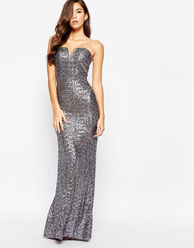 Image 1 ofTFNC Showstopper Sequin Maxi Dress