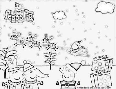 Blog De Los Ninos Dibujos De Navidad De Peppa Pig Para