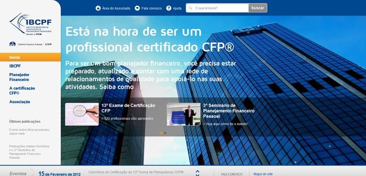 Site do IBCPF - Home segmentada para Planejadores Financeiros. (2011)