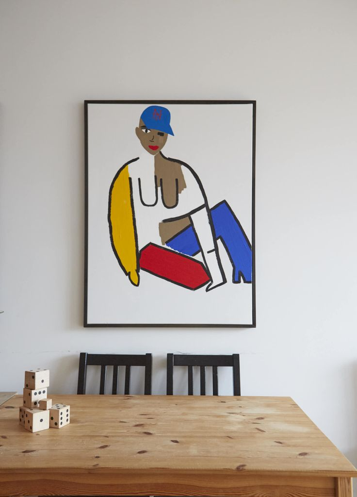 I paint. This painting is part of my color-block series. It is an ode to my favorite team, The Mets.