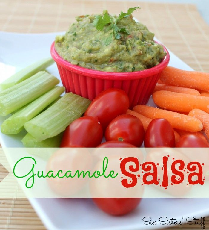 Six Sisters Guacamole Salsa is great with veggies or tortilla chips!