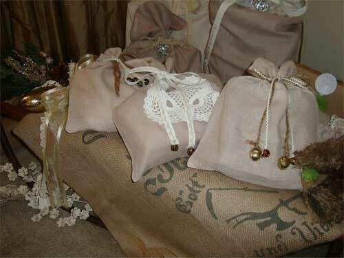 Sacos con decoracion