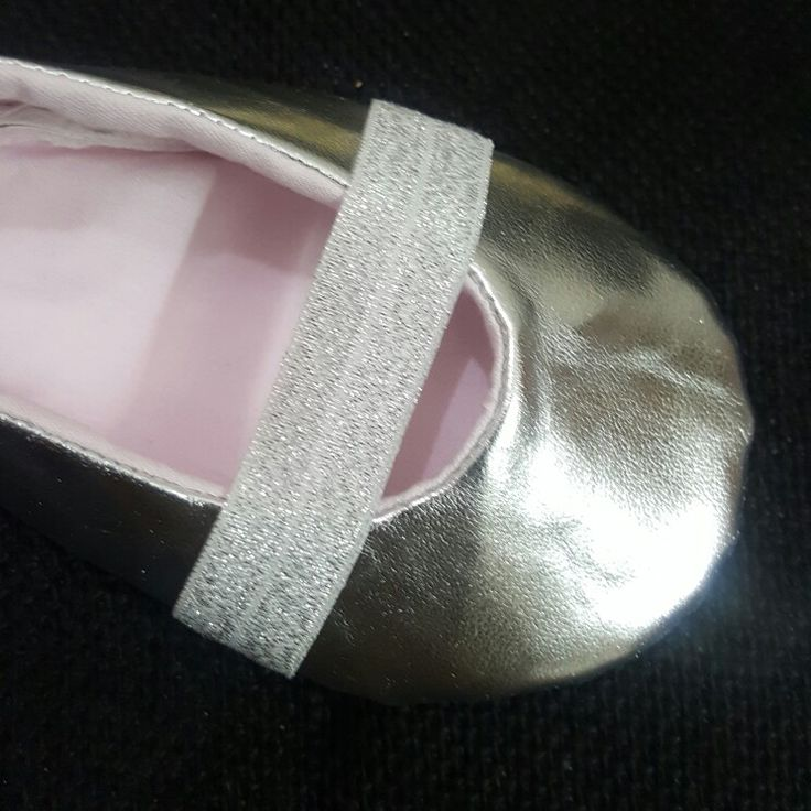 Baby metallic shoe handmade from Flutterby Calicut India