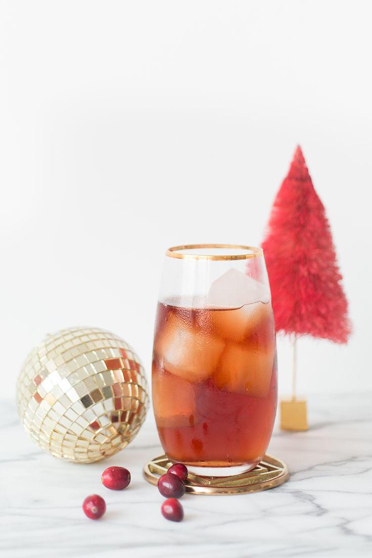 Berry Christmas Cocktail - Black Spiced Rum, Balsamic Vinegar, Cranberry Juice, Blackcurrant Pear Soda.
