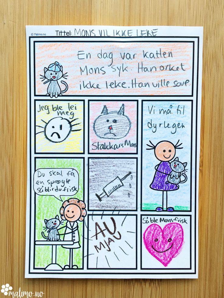 Tegneserier er et eksempel på en sammensatt tekst av bilde og tekst som elevene kjenner godt. Å lage egne tegneserier kan gjøres som en kjekk venteaktivitet uten fokus på innhold og virkemidler. Samtidig er det mulig å gi oppgavene konkrete kriterier.