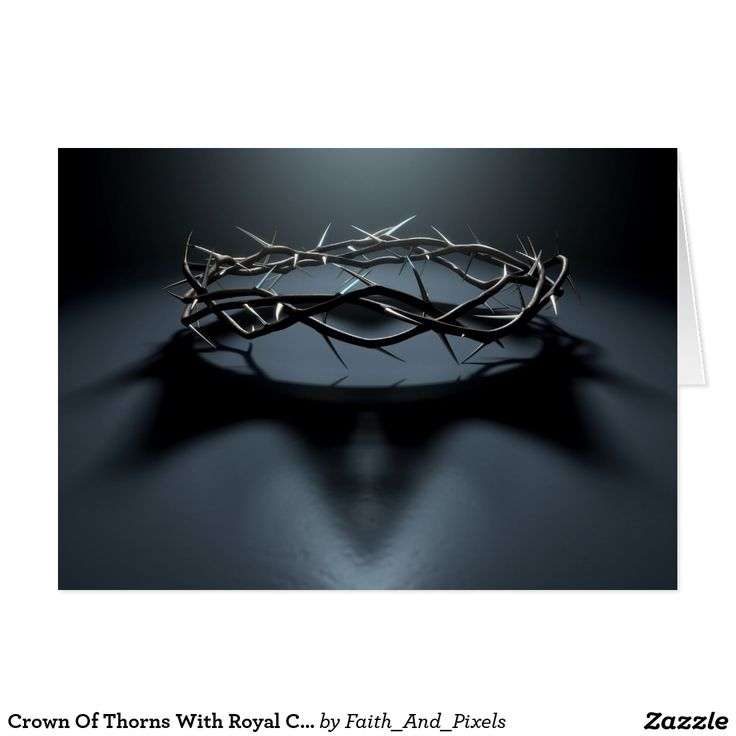 Crown Of Thorns With Royal Crown Shadow