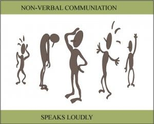 Non verbal communication speaks volumes...your language says whether you are engaged in the conversation or not!