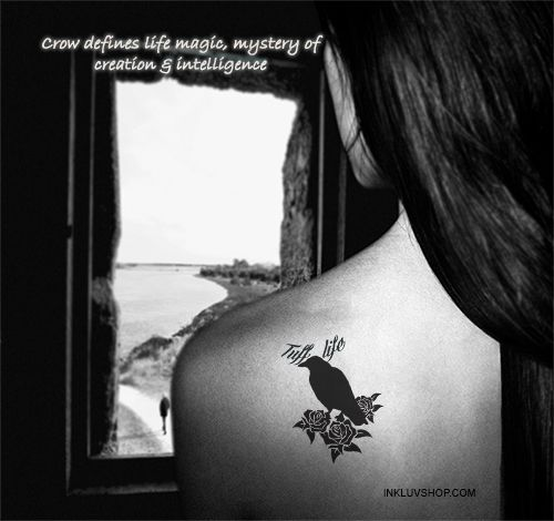 Accessorize yourself with #Crow #Tattoo on your Back #Shoulder.