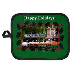 Happy Holidays- #Boston Swan boats potholder ..$10.80