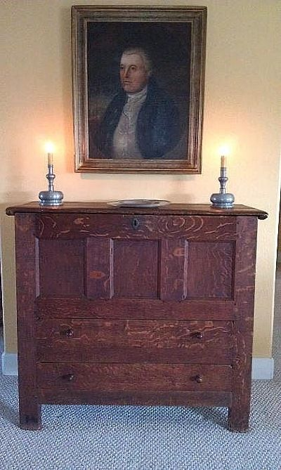 A Simply Incredible Joined Pilgrim Century Two Drawer Blanket Chest From The Connecticut River