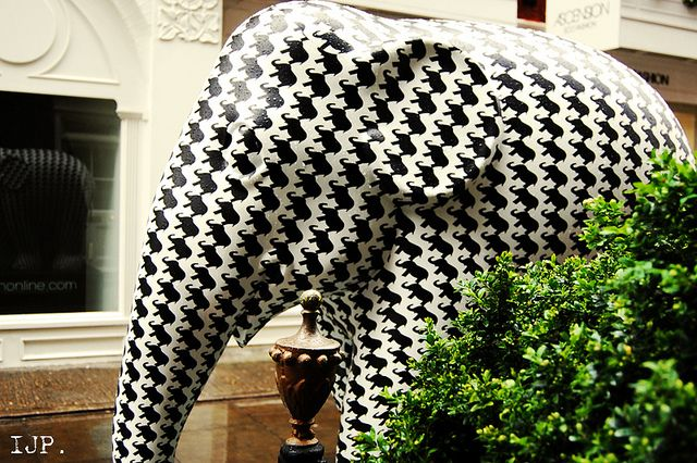 Houndstooth Elephant  St Christopher's Place  London Elephant Parade 2010
