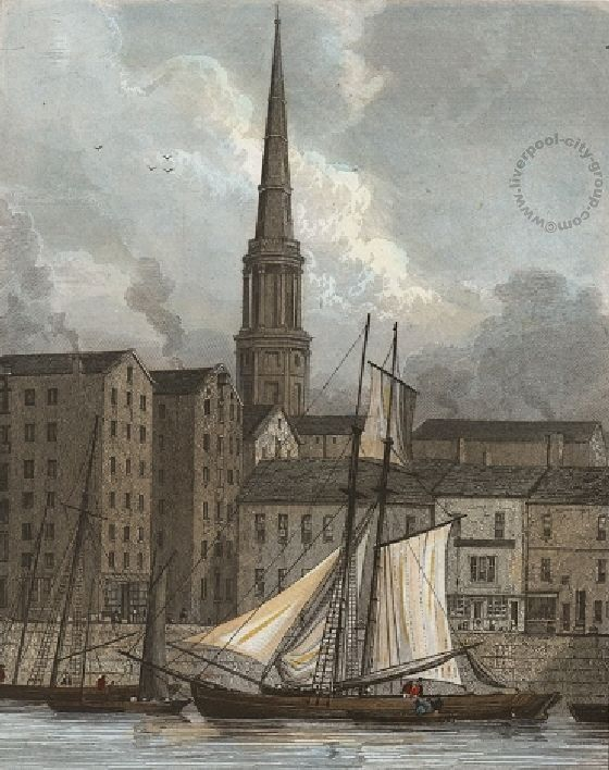 Liverpool, history, liverpool-history-l1-st-georges-church-from-the-docks-1830