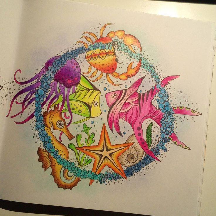 Finished today 🐠 🐚 🎨 🌊 #dieweltunterderlupezuwasser #ritaberman #coloring #prismacolor #malenfürerwachsene #adultcoloring #adultcoloringbook #ausmalenfürerwachsene #ausmalbuchfürerwachsene #coloringbook #coloringbookforadults #art