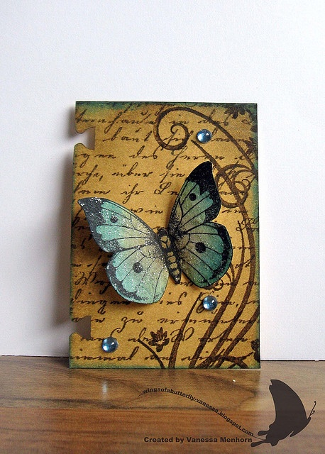 butterfly ATC love the rolodex card backing!