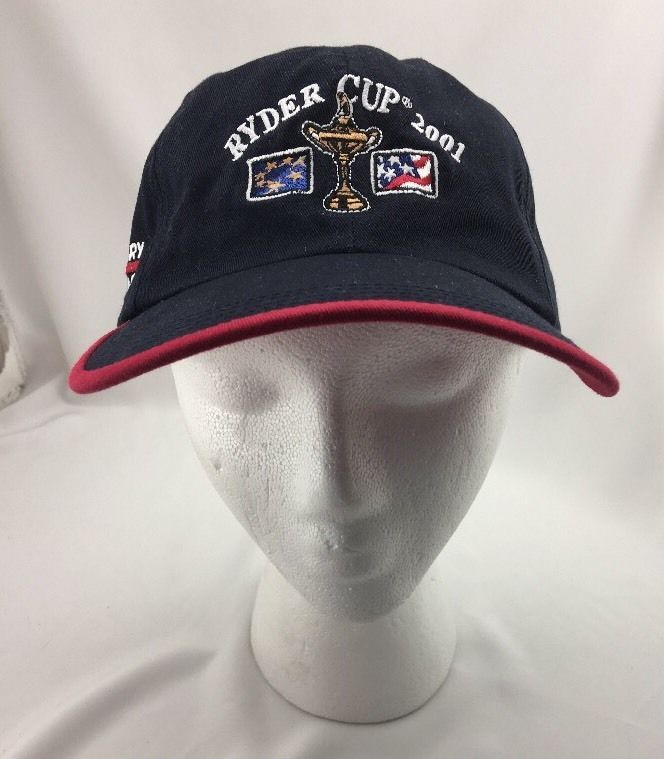 Ryder Cup 2001 Hat Baseball Cap Victory Ahead Velcro Backing Free Ship  | eBay