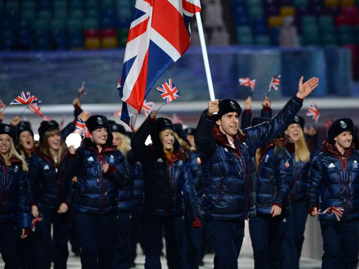 Rule Britannia? Team GB uniforms in navy and maroon on the athletes at #Sochi Olympics opening ceremony Parade of Nations.