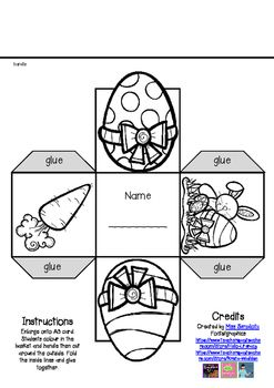 A super simple Easter basket for your students to make.Simply print out (enlarge), color cut and make!Younger students will need help!