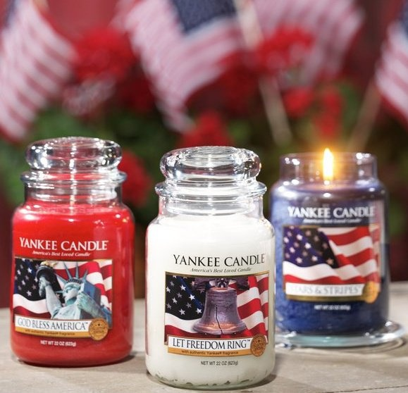 Patriotic Yankee Candle #YankeeCandle #MyRelaxingRituals