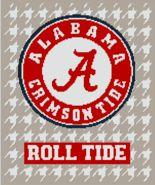 University of Alabama Crochet Blanket Pattern - Roll Ride Crimson Tide A - $5.00