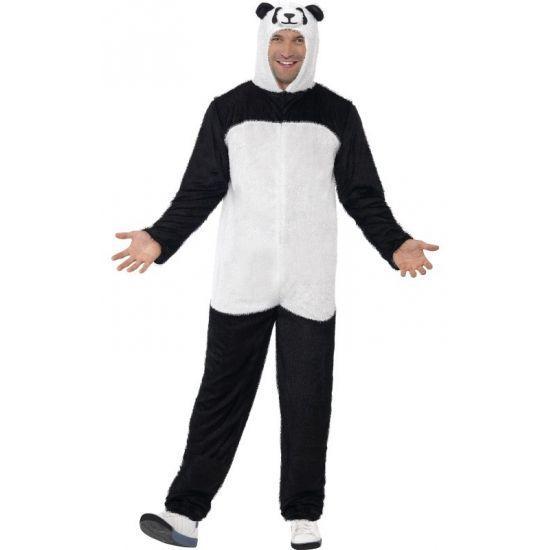 Carnavalskleding panda kostuum  Panda kostuum voor volwassenen. Panda jumpsuit voor dames en heren. De onesie bestaat uit 1 geheel inclusief capuchon. Deze party onesie is gemaakt van dun polyester materiaal. .  EUR 44.95  Meer informatie