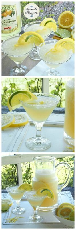 Limoncello Margaritas - pure sunshine is a glass. This is gorgeous, having a glass now, pressie from Italy :))