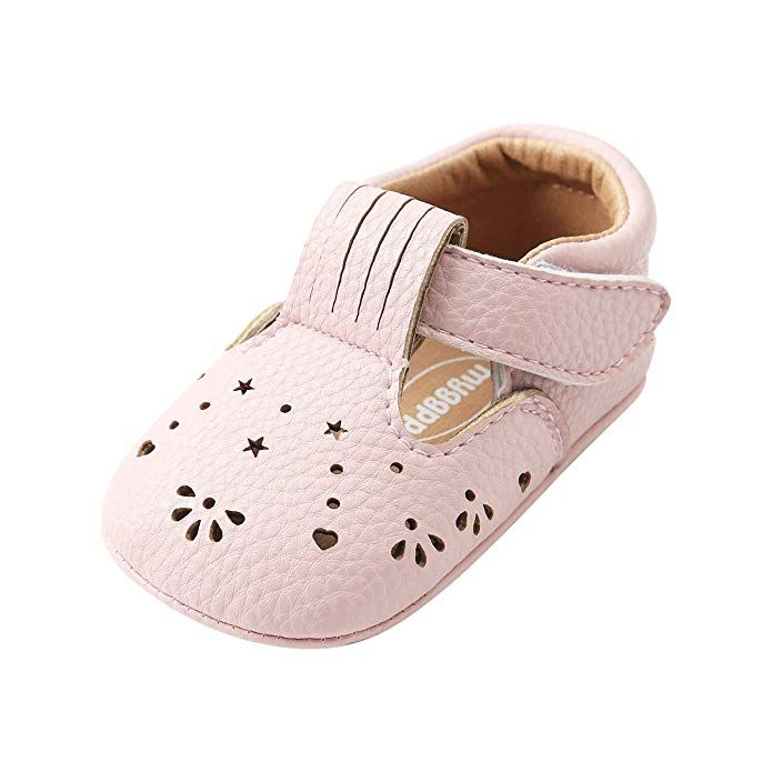 85aa26df7ea4c Kuner Baby Girls Pu Leather Embroidered Soft Bottom Princess Shoes ...