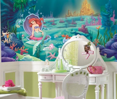 Ariel The Little Mermaid Large Panoramic Wall Murals. This Giant Wall Mural  Of Ariel From Disneyu0027s The Little Mermaid Is Great For Girls Rooms Wall  Decor.