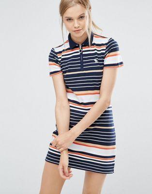 Abercrombie & Fitch – T-Shirt-Kleid im Retro-Look mit Reißverschluss vorne