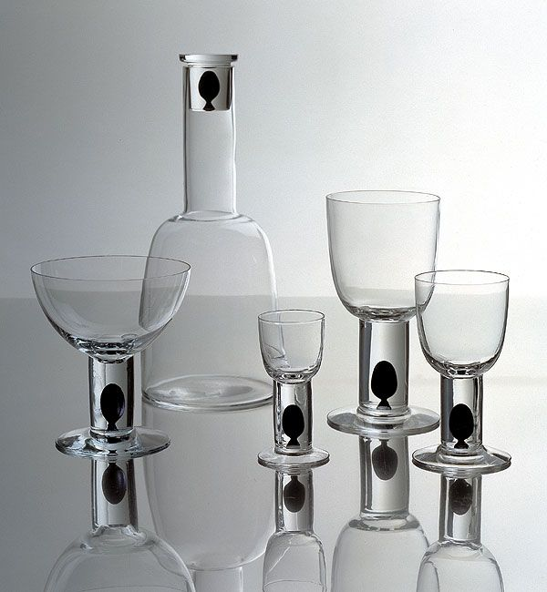 Markku Salo Gallery / Design / Long Series / Glass / Oliivi 1990.