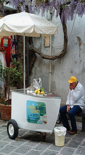 Emily, is this the man?  Limoncello from Positano.