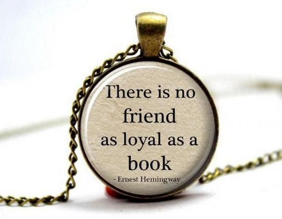Book lovers necklace