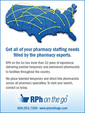 RPh on the go - Pharmacy Staffing Needs Filled by the Pharmacy Experts (as seen in the 20Ways Winter 2017 Hospital & Infusion Issue).