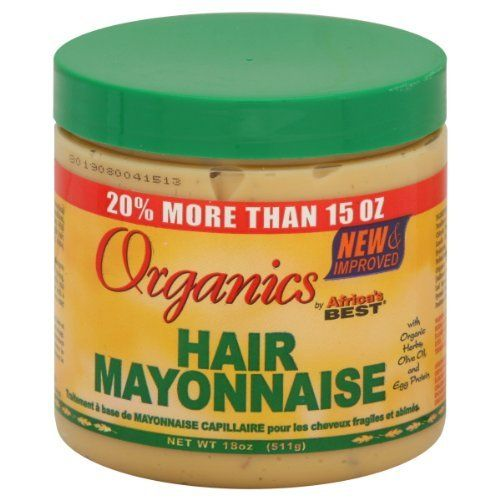 Africa's Best Organics Hair Mayonnaise, 15 oz 15 ounce with organic herbs, olive oil, and egg protein. Improved organics hair mayonnaise is enriched with natural botanical herbal Read more http://cosmeticcastle.net/hair-care/africas-best-organics-hair-mayonnaise-15-oz