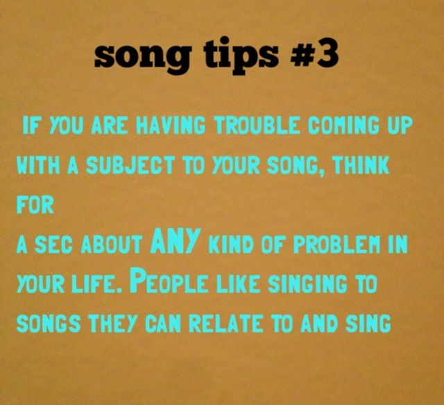 topics to write a song about Make sure while you do this that you write your favorite lyrics in the song  30  day writing challenge: unedited, free-flowing thoughts on the daily topic didn't.