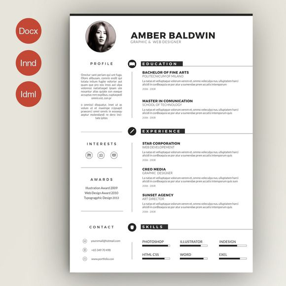 resume by estartshop on creative market