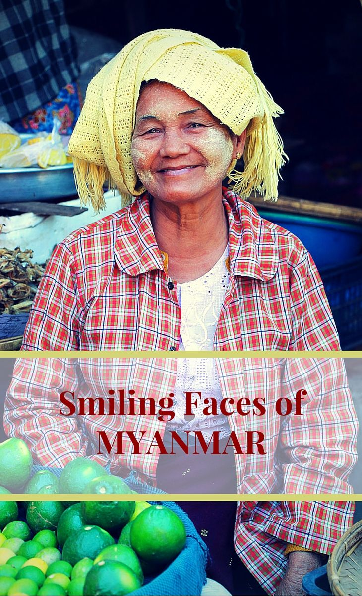 MYANMAR (Burma) | We found the people in Myanmar extraordinarily warm and friendly! You'll see that many of the girls and women wear traditional thanaka on their faces and arms (thanaka is a yellowish-white paste made from ground bark that's worn as a cosmetic decoration and to protect against the burning sun). And, oh, the little monks – they stole our hearts…