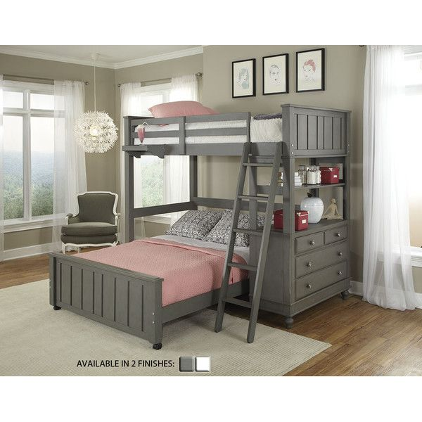 Lake House Stone Full Loft Bunk Bed With Lower
